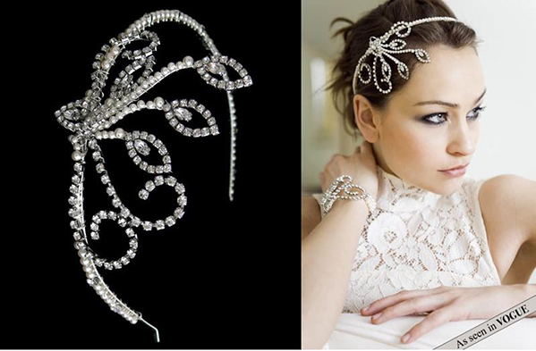 Vow Bridal Gallery, Bridal Accessories, Peterborough, Stamford, Cambridgeshire, Oundle, Flo & Percy, The Shearer Headband